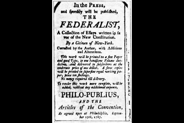 federalist no10 essay The federalist papers the federalist 10 - the same subject continued (madison) (the union as a safeguard against domestic faction and insurrection.