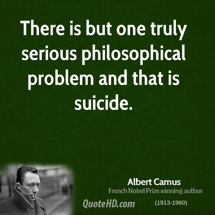 camus suicide essay Camus, in his writings published in the collection 'the myth of sisyphus, and other essays' describes his by martin-stuessy.