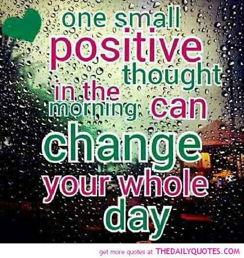 Positive Thoughts Bring Positive Results Quotes: Small Changes Quotes. QuotesGram