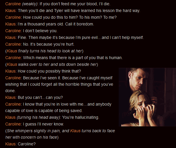 Vampire Diaries Love Quotes Klaus Caroline And Kl...