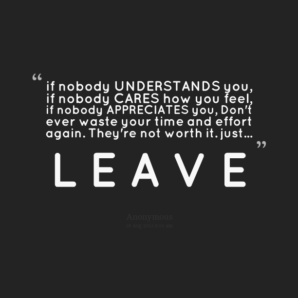 no one cares about me quotes