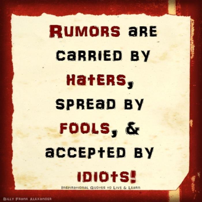 Gossip And Rumors Quotes. QuotesGram