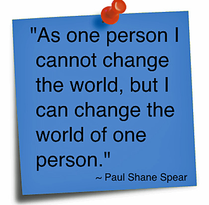 One Man Can Change the World
