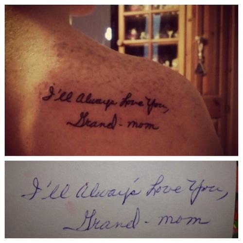 And Grandma Tattoo Quotes. QuotesGram