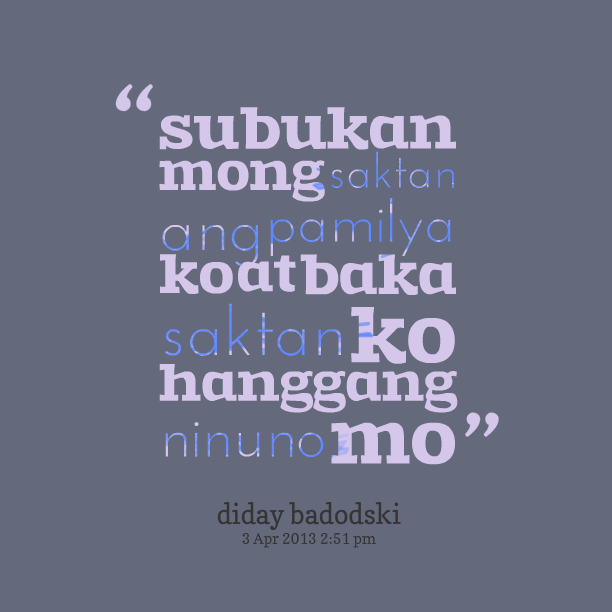 Quotes About Tagalog Sad Love Quotes Tungkol Sa Pami...