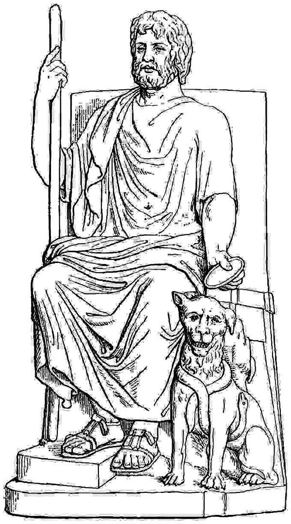 Statue Of Persephone Coloring Page