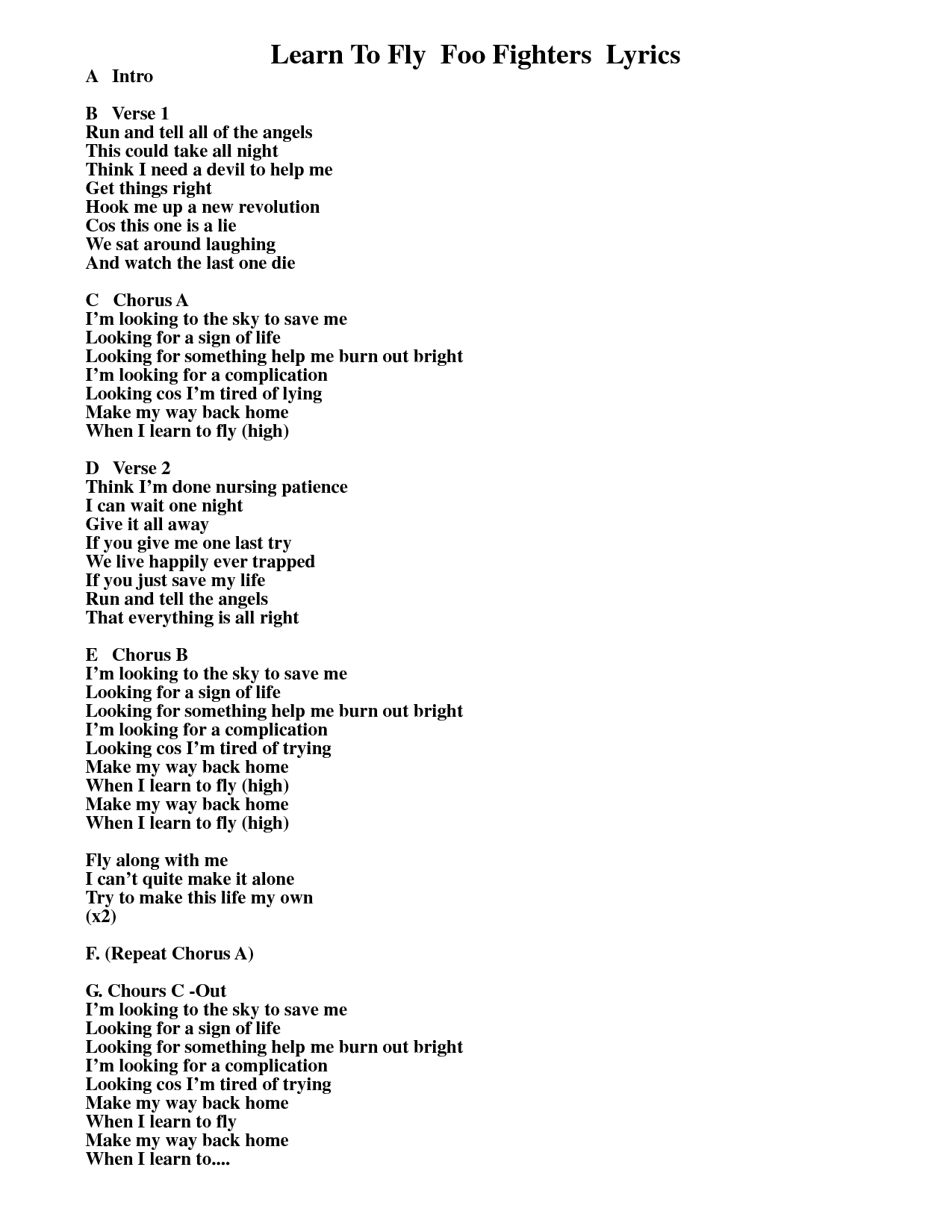 Tom Petty - Learning To Fly Lyrics | MetroLyrics