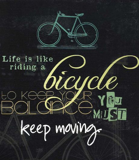 Albert Einstein Quotes Life Is Like Riding A Bicycle: Bicycle Quotes And Sayings. QuotesGram