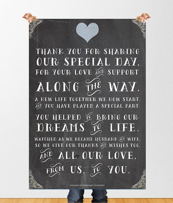 Wedding Thanks Quotes: Chalkboard Wedding Quotes. QuotesGram