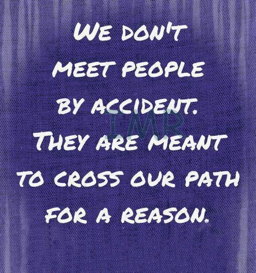 You Meet Someone For A Reason Quotes: Quotes Meeting People By Accident. QuotesGram