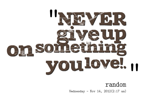 Never Give Up On Love Quotes : Giving Up On You Quotes. QuotesGram