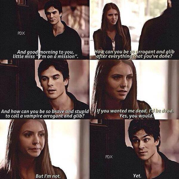 Katherine And Damon Funny Quotes. QuotesGram