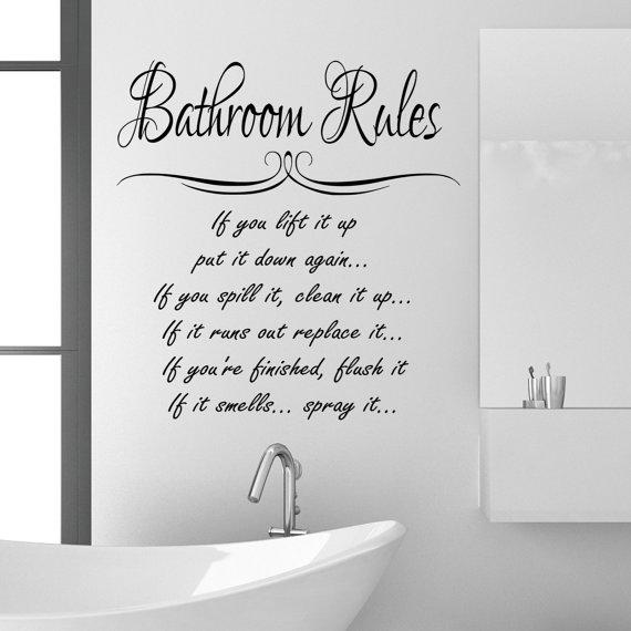 Bathroom Wall Art Quotes: Clean Bathroom Quotes. QuotesGram