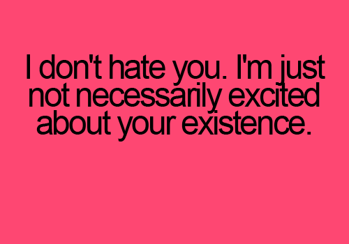 I Hate You Quotes I Like That: I Hate You Funny Quotes. QuotesGram