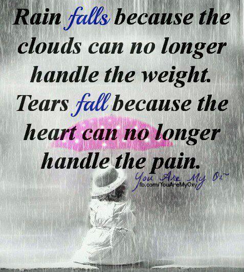 65 Very Painful Sad Friendship Quotes: Sad Quotes About Rain. QuotesGram