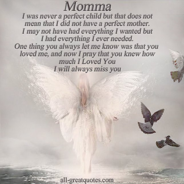 In Memory Of Mom Quotes. QuotesGram