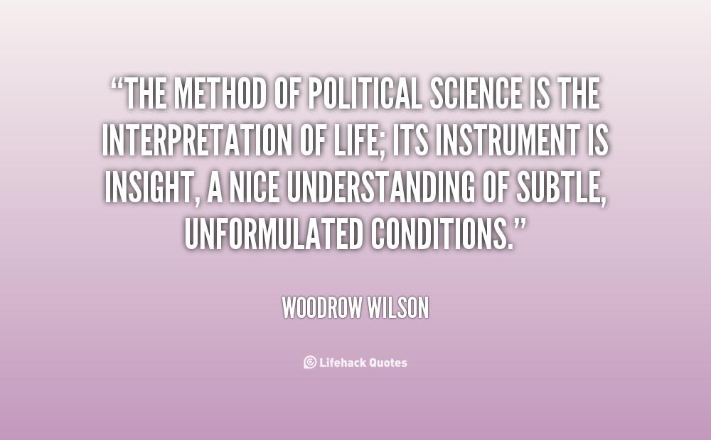 scientific tactic inside political science