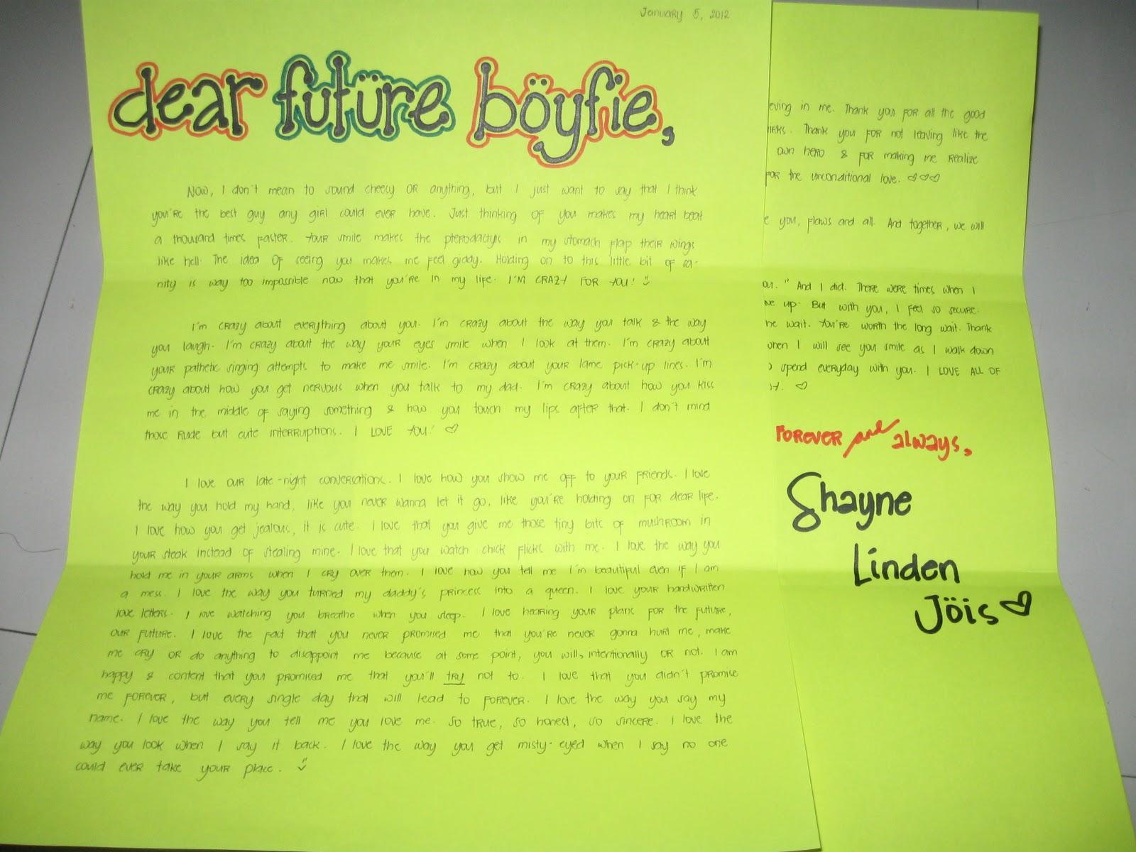 dear boyfriend letters tumblr - photo #21