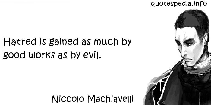 machiavelli teacher evil essays Is machiavelli an immoral teacher of evil this essay was produced by one of our professional writers as a learning aid to help you with your studies.