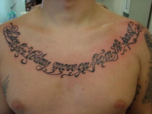 Chest Tattoo Quotes And Sayings. QuotesGram