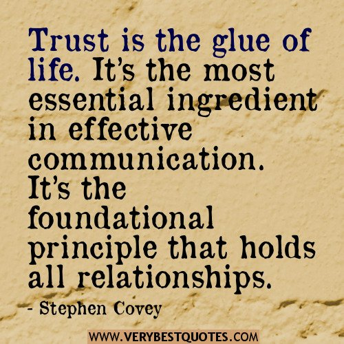 messages on relationship and trust