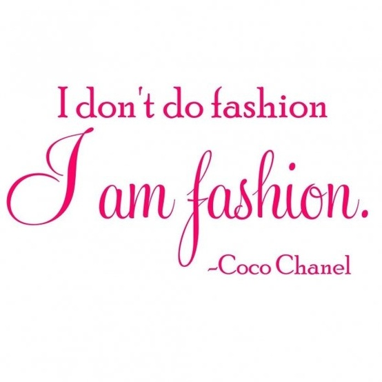 Coco Chanel Fashion Style Quote