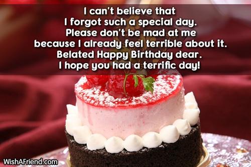 Astounding Forgetting Birthday Quotes Quotesgram Personalised Birthday Cards Veneteletsinfo