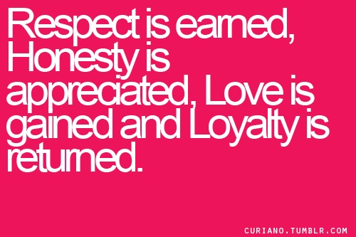 famous honesty loyalty respect quotes quotesgram