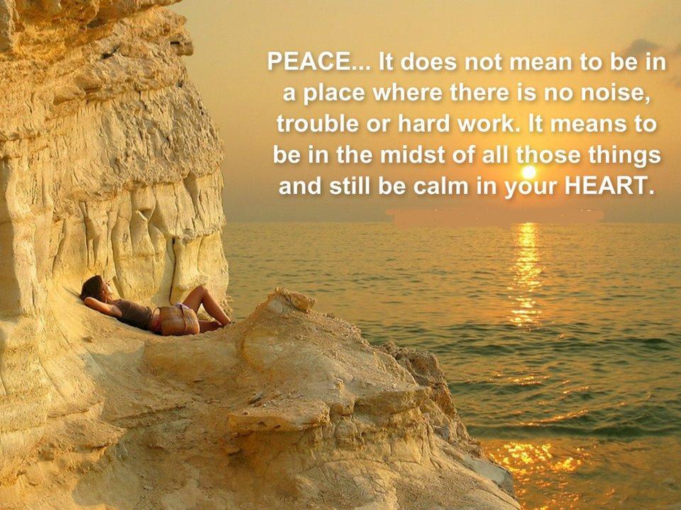 Peaceful Heart Quotes. QuotesGram