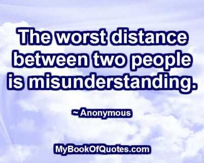 how to avoid misunderstanding between lovers
