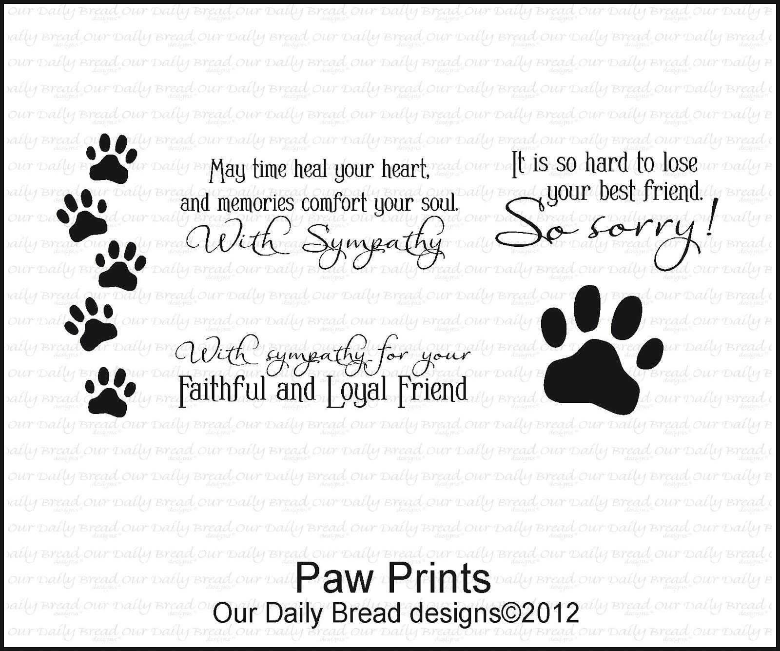 Pet Sympathy Quotes Paw Prints Quotesgram