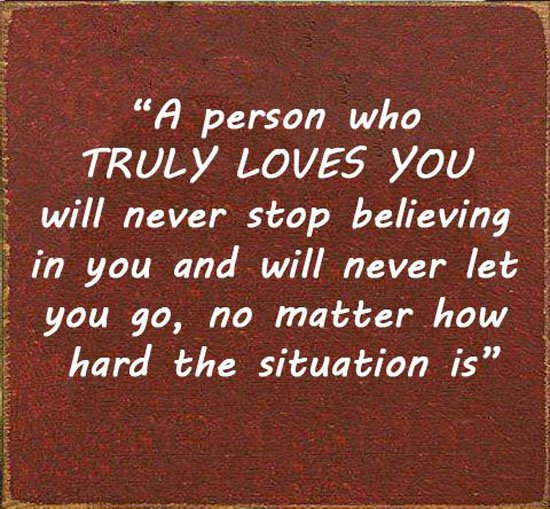 Never Leave Someone That Loves You Quotes. QuotesGram
