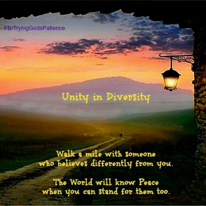 Inspirational Quotes About Cultural Diversity: Unity In Diversity Quotes. QuotesGram
