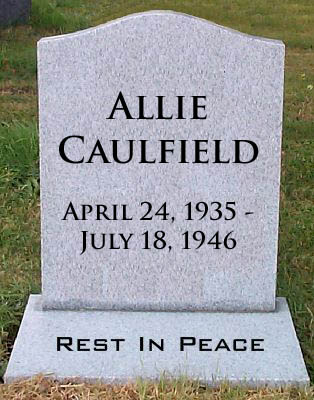 allie caulfield quotes Allie is the youngest son in the caulfield's family he died at the age of 11 because of leukemia this character is described by holden as the most intelligent and the nicest boy ever.
