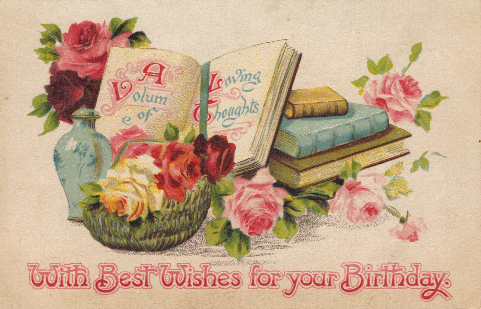 Днем рождения, открытки с днем рождения женщине оригинальные винтаж