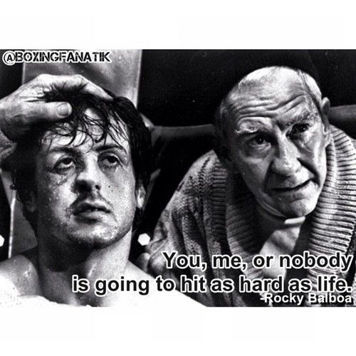 Rocky Balboa Life Is Hard Quote: Rocky Mickey Quotes. QuotesGram