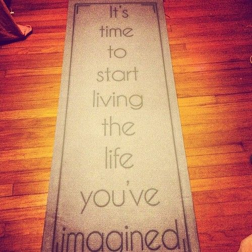Quotes Yoga Mat Quotesgram