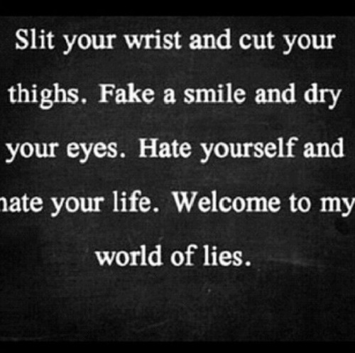 Sad Quotes About Depression: Cut Wrists Suicide Quotes. QuotesGram