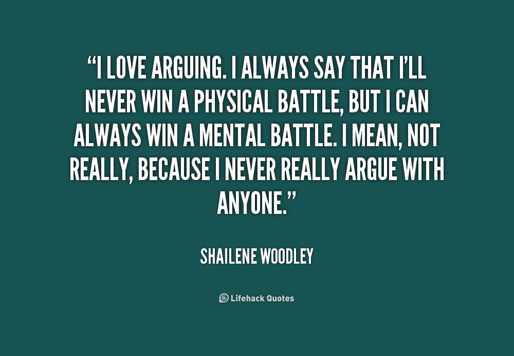 Argumentative quotes