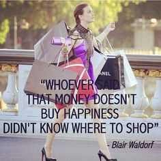 Bildresultat för shopping therapy quotes