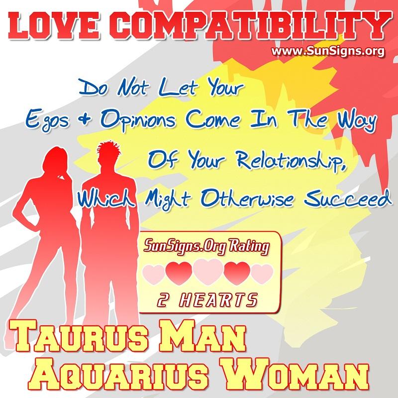 love match for taurus and aquarius relationship