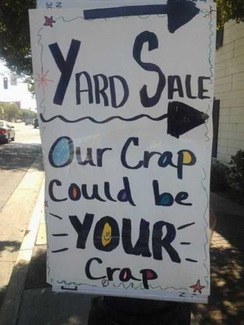 Funny Garage Signs : Funny quotes about garage sales quotesgram