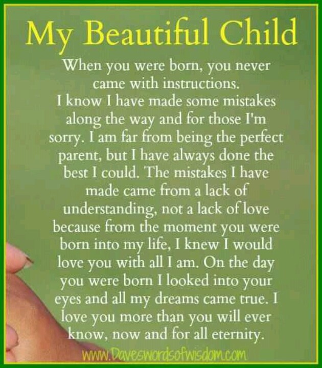 Quotes To My Daughter: Sorry To My Daughter Quotes. QuotesGram