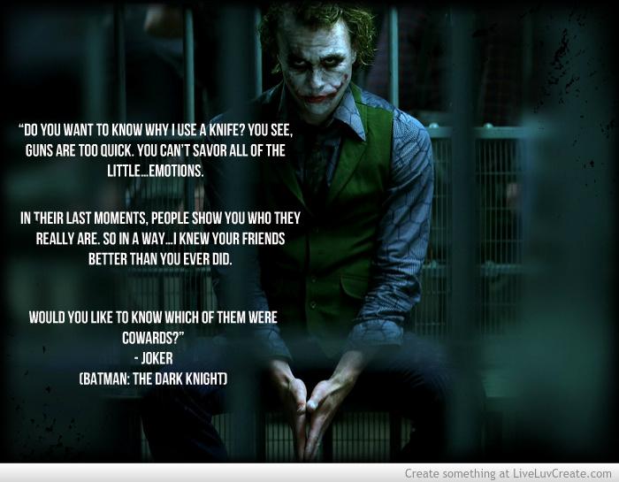 Joker Quotes: Famous Dark Knight Quotes. QuotesGram