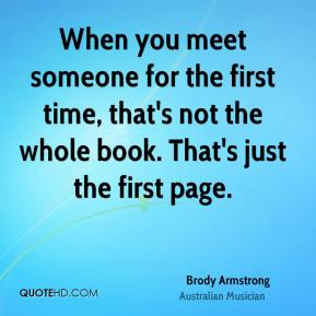 For the poems time about first someone meeting Meeting You