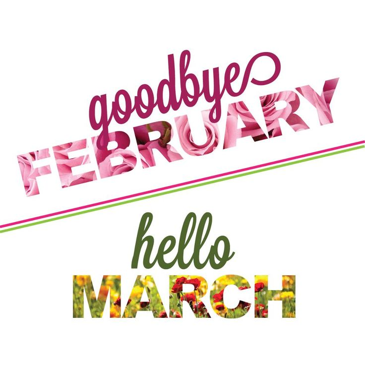 Image result for goodbye february