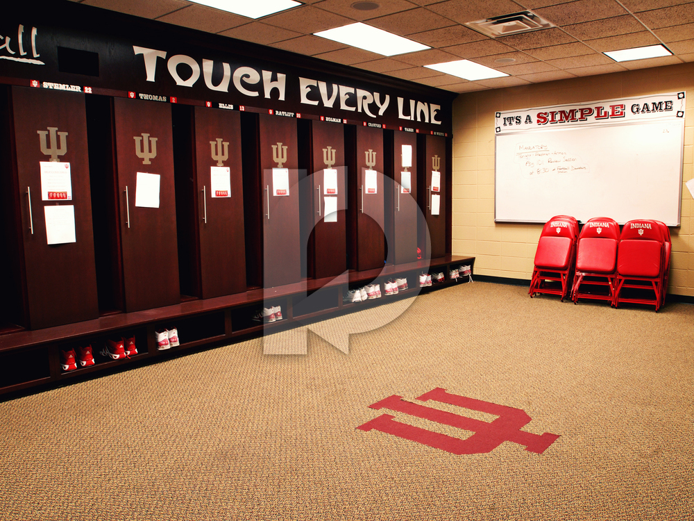 Assembly Hall Indiana Basketball Locker Room