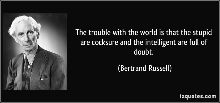 the world view of bertrand russell Bertrand russell and the world wars  was horrified and reassessed his views  of human nature.