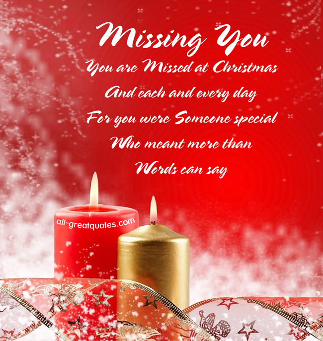Missing My Husband At Christmas Quotes: Christmas Missing You Quotes. QuotesGram