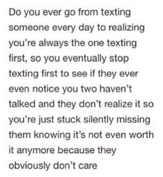 A guy texts everyday when Texting In